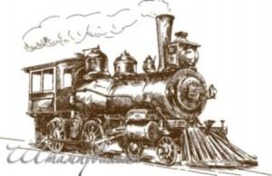 stamp Lokomotive for scrapbooking and cardmaking, cards